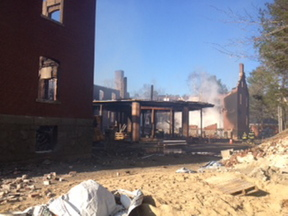 Twenty volunteer firefighters from Great Diamond Island's station and Long Island also responded to the blaze early Saturday.