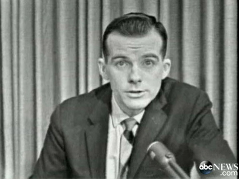 "A screen shot shows Bill Lord reporting from Dallas on the day President John F. Kennedy was assassinated. ""It was such a depressing experience for all of us,"" Lord said."