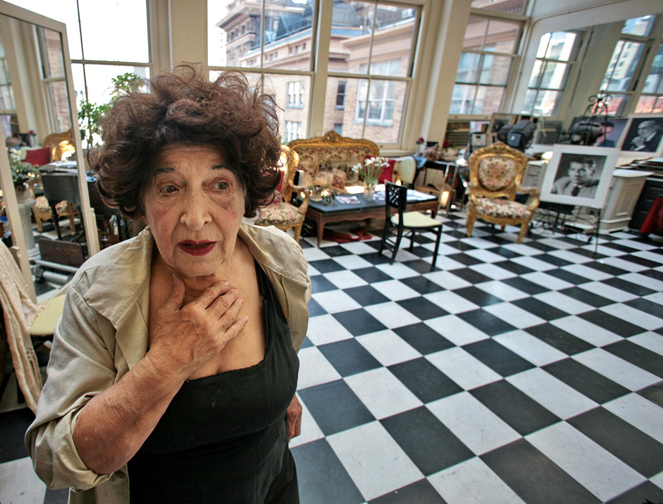 Editta Sherman in her Carnegie Hall studio residence in New York in 2007. She was forced to move out in 2010.