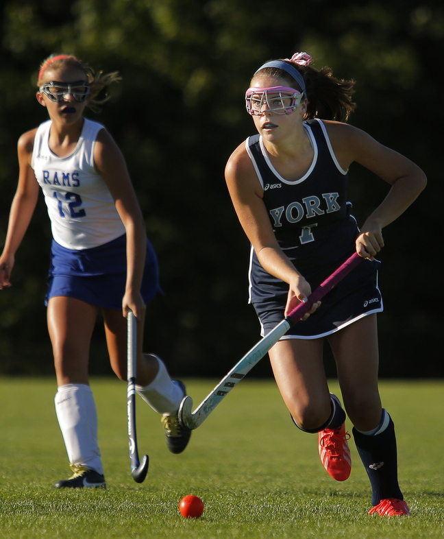 Taylor Simpson set a York High field hockey record by scoring 38 goals this season, including three or more goals in a game six times. She will attend Merrimack College.