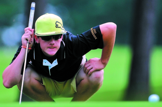 Luke Ruffing of Maranacook brings an intensity to his golf game that played a part this fall when he captured the Class B state championship at Natanis – the course he joined simply to prepare for the event.