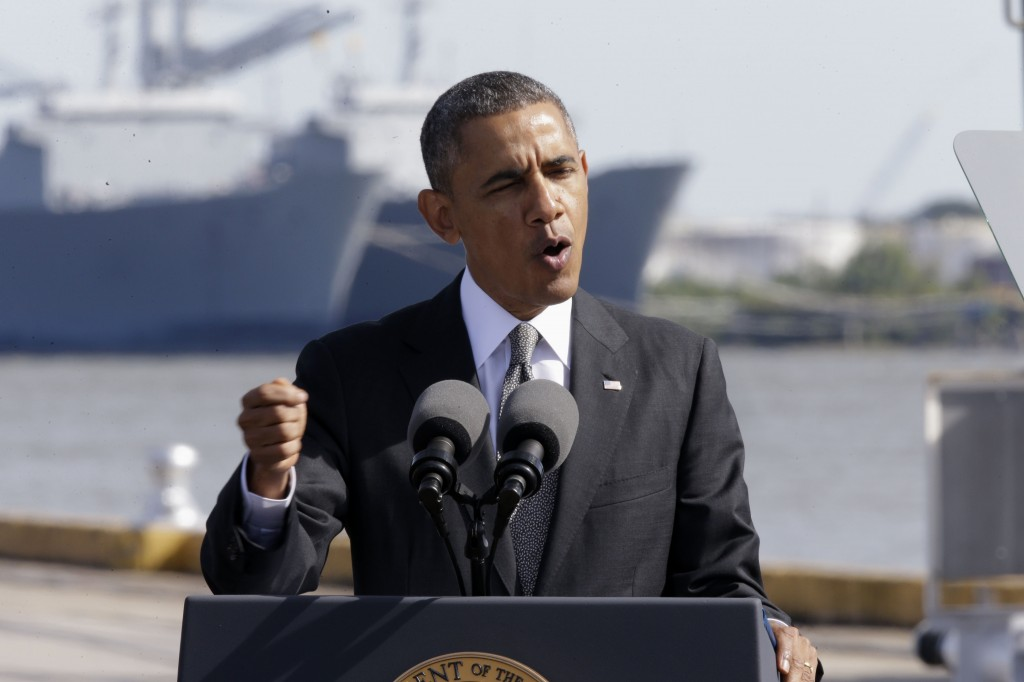 President Barack Obama speaks about the economy on Friday at the Port of New Orleans. The latest political problem engulfing Obama's health care overhaul is unlikely to be resolved quickly, cleanly or completely.