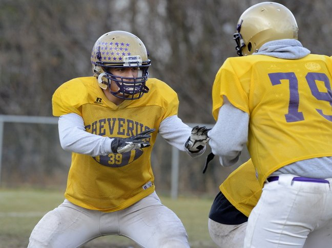 Cody O'Brien has become the latest quintessential fullback for Cheverus, with the ability to block, run and catch the ball, helping the Stags to another state final.