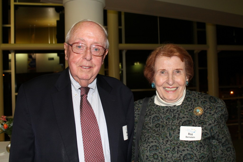 Merton Henry, former board member of the Maine Community Foundation and partner at Jensen Baird Gardner & Henry in Portland, with Rosalyn Bernstein, past chair of the foundation.