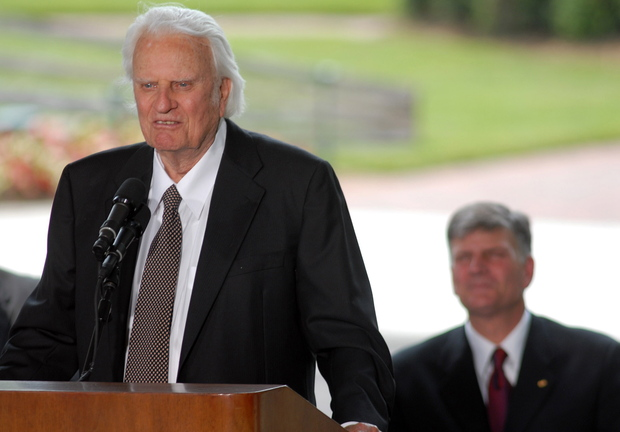 Billy Graham speaks at the dedication ceremony for the Billy Graham Library in Charlotte, N.C., in 2007.