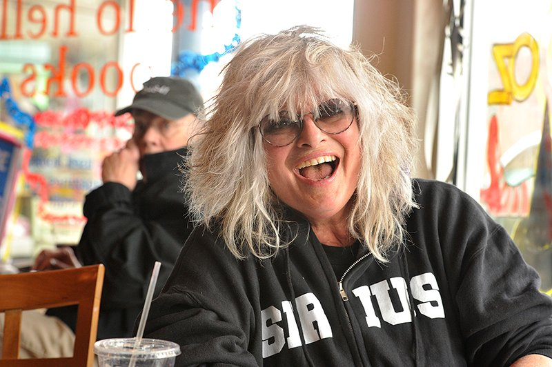Nina Blackwood, one of the original MTV VJs, now lives in Maine and does her satellite radio show of '80s music from her home.