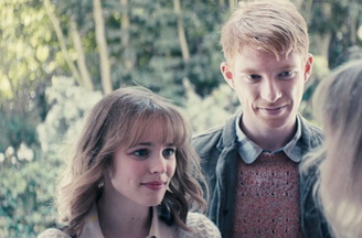 "Rachel McAdams and Domhnall Gleeson in the time-travel romantic comedy ""About Time."""