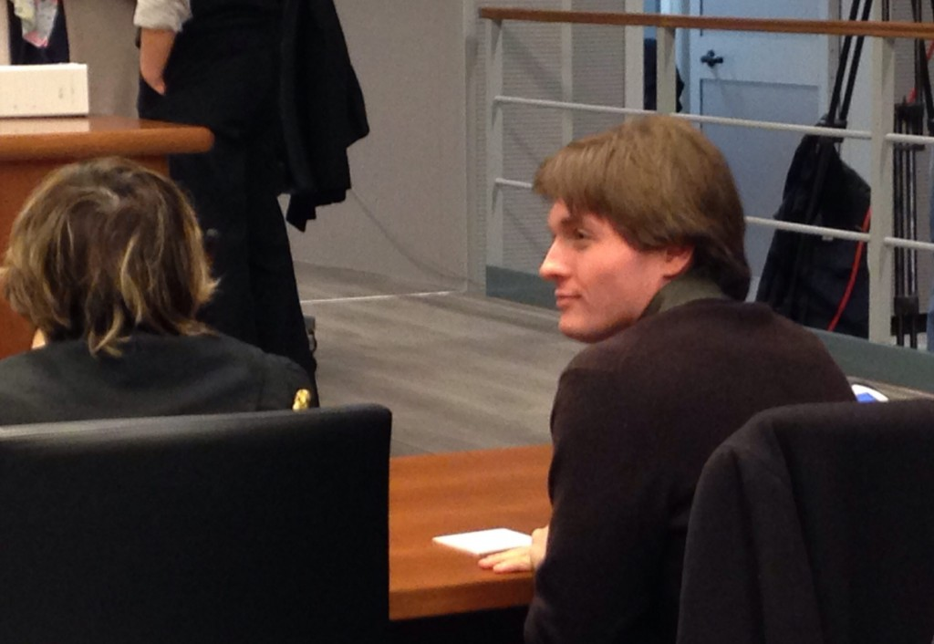 Raffaele Sollecito, the Italian ex-boyfriend of Amanda Knox, awaits a hearing in an appeals court in Florence, Italy.