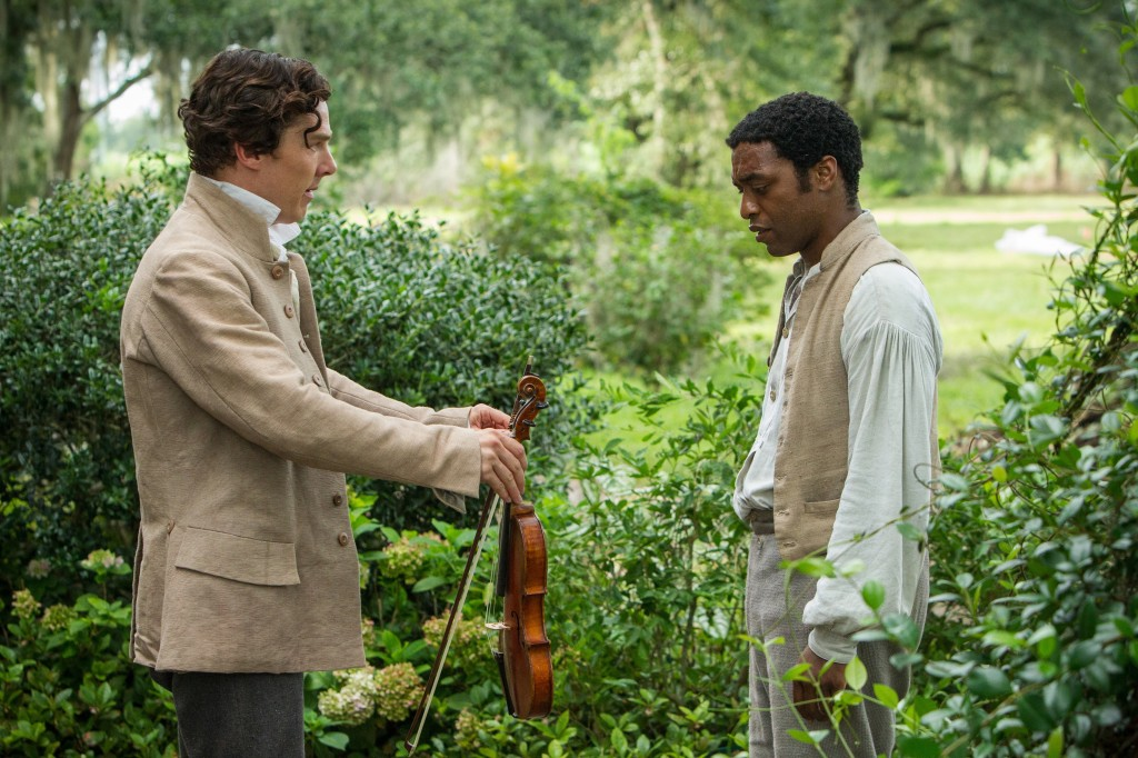 "Benedict Cumberbatch, left, and Chiwetel Ejiofor star in ""12 Years a Slave."""