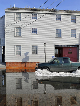 Flooding on Portland's waterfront caused by a high tide in 2011 could become worse, a letter writer says, if actions such as new power plant pollution limits aren't taken.