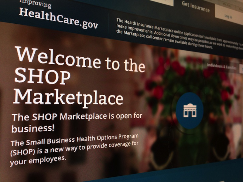 This photo of part of the HealthCare.gov website page featuring information about the SHOP Marketplace is photographed in Washington, Wednesday, Nov. 27, 2013 dministration officials are preparing to announce Sunday that they have met their Saturday deadline for improving HealthCare.gov, according to government officials, in part by expanding the site's ability to handle 50,000 users at once.