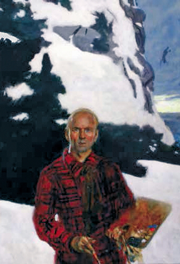 "Jamie Wyeth's ""Portrait of Rockwell Kent, second in a series of untoward occurrences on Monhegan Island."""