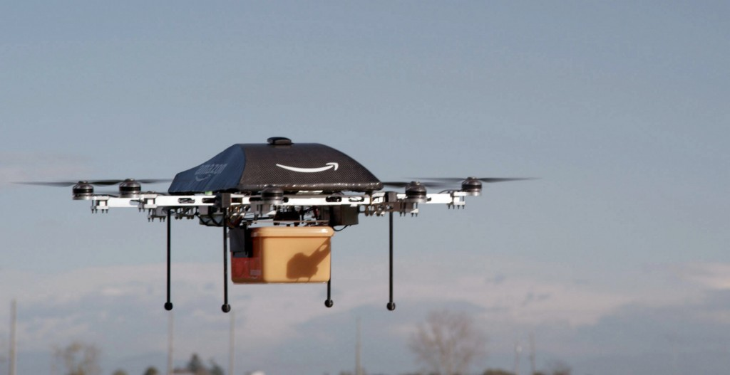 This undated image provided by Amazon.com shows the so-called Prime Air unmanned aircraft project that Amazon is working on in its research and development labs. Amazon says it will take years to advance the technology and for the Federal Aviation Administration to create the necessary rules and regulations.