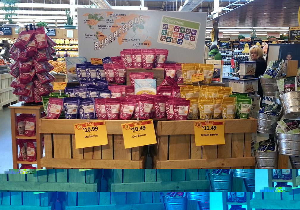 Navitas Naturals products are displayed at Whole Foods Market in Portland.