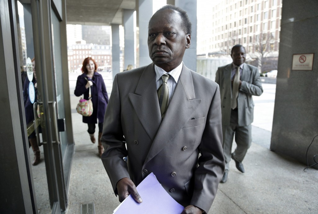 Onyango Obama, President Barack Obama's Kenyan-born uncle, arrives at U.S. Immigration Court for a deportation hearing on Tuesday in Boston. He has lived in the United States since the 1960s, when he came here as a teenager to attend school.