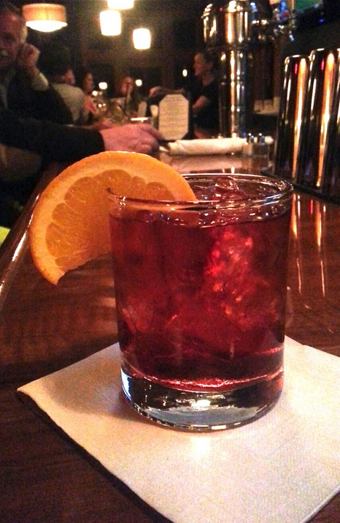 Cherry- and ginger-infused whiskey, one of Dockside's new house infusions.