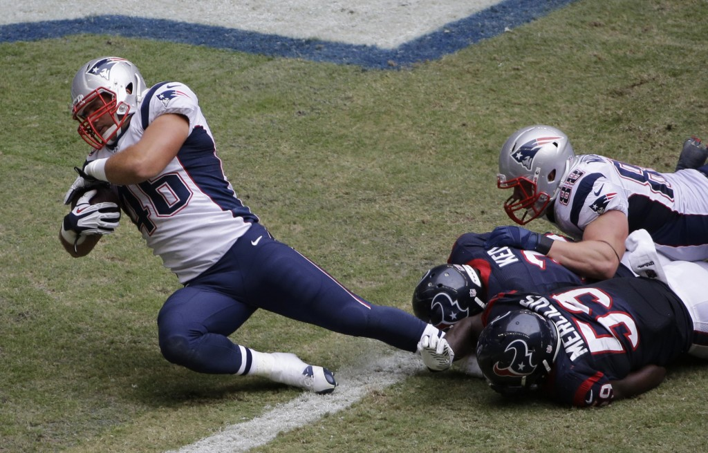 James Develin wouldn't be deterred from crossing the goal line last Sunday any more than he'd be deterred from making the NFL after a most unusual path to pro football.