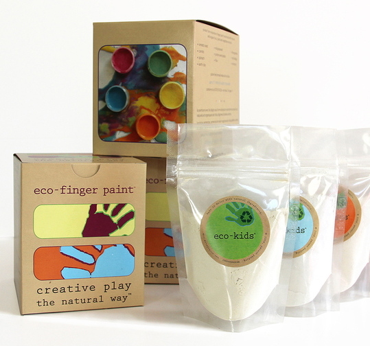 The Portland company eco-kids makes a line of children's art supplies using non-toxic, natural ingredients.