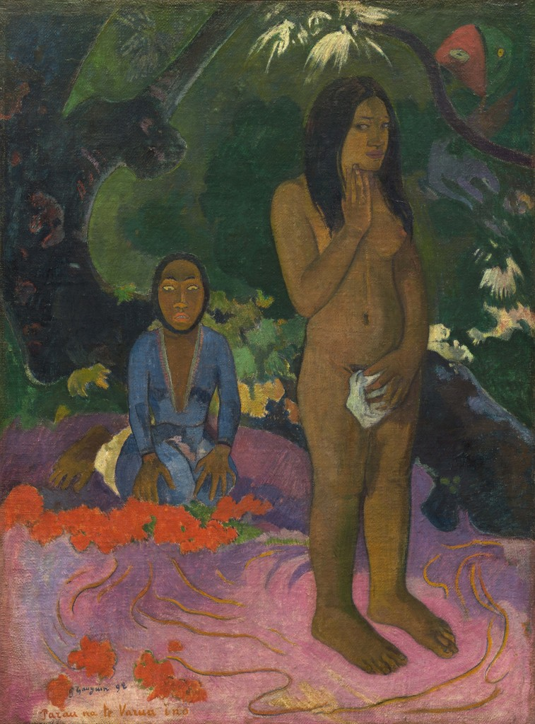 "Paul Gauguin's ""Parau na te Varua ino (Words of the Devil),"" 1892."