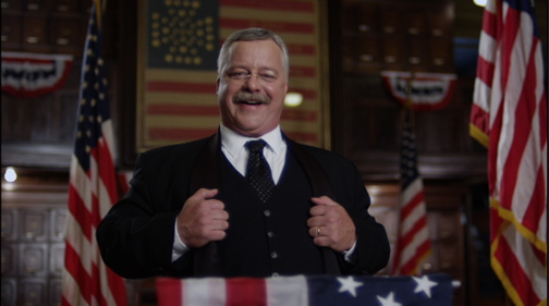 Joe Weigand as Theodore Roosevelt in