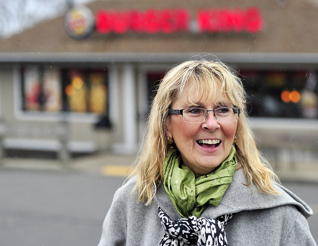 "Nance Trueworthy said when she stops for fast food, ""It's a grab-and-go before the haircut."""