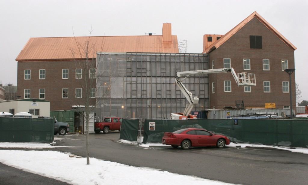 Two views of the new Davis Science Center at Colby College.