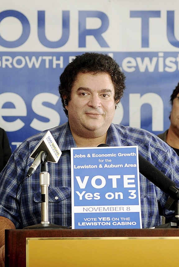 In this 2011 file photo, Stavros Mendros after the Lewiston casino failed at the poll. Mendros and Peter Robinson are suspected of misreporting donations during their failed 2011 Lewiston casino initiative.