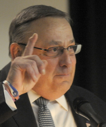 "Gov. LePage, at an Augusta conference Thursday on the future of transportation, says global warming offers ""a lot of opportunities."""