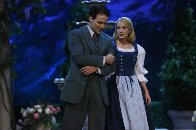 """Stephen Moyer as Captain Von Trapp and Carrie Underwood as Maria starred in """"The Sound of Music Live!"""" on Thursday on NBC. The live production improved as it went on."""