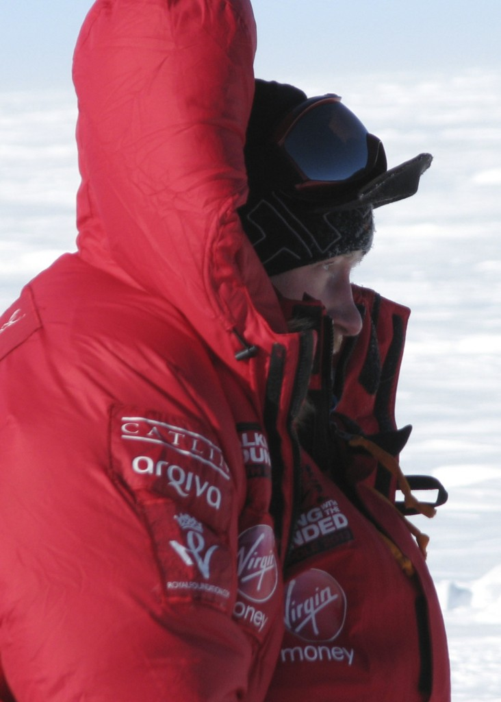 Britain's Prince Harry is on a 200-mile charity trek to the South Pole but the competitive element has been suspended because of harsh conditions.