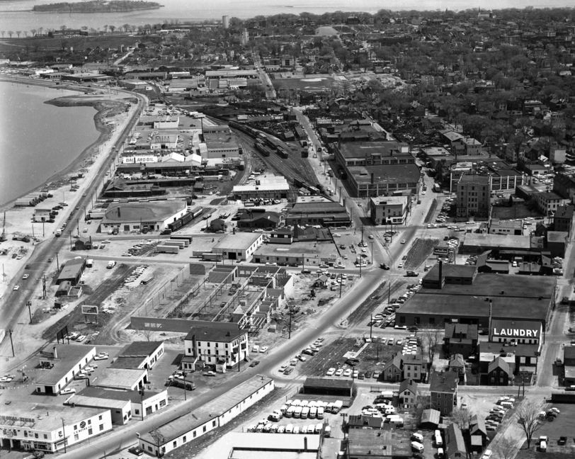 This circa 1960 photo shows Portland's Bayside neighborhood looking east, before the construction of Interstate 295.