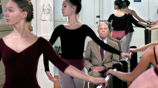 Bossov Ballet Theatre student dancers rehearse as founder Michael Wyley watches in 2008 at Maine Central Institute in Pittsfield.