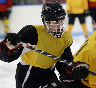 Cam Loiselle has moved from forward to defense this season but is still a top offensive threat for Scarborough, one of the favorites in Class A.