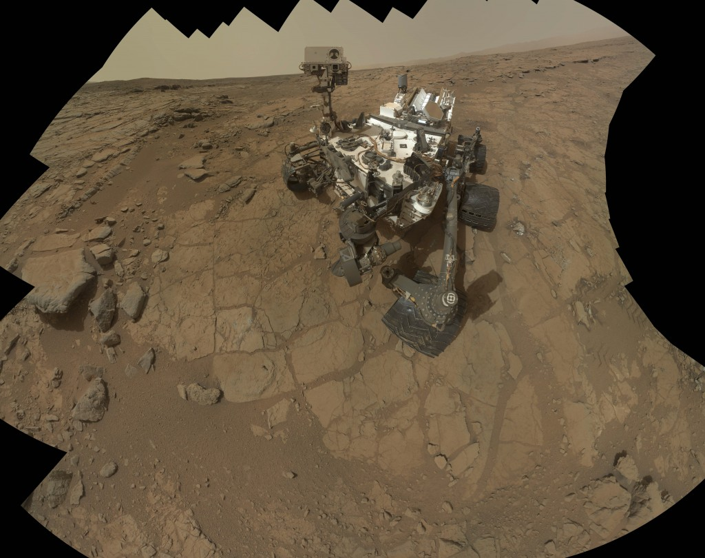 This NASA image from February shows a self-portrait taken by the Mars rover Curiosity. The rover has uncovered signs of an ancient freshwater lake on Mars that may have teemed with microbes for tens of thousands of years.