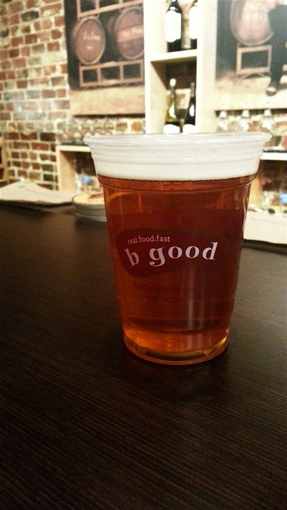 Baxter Brewing is one of the local brews offered on draft for $5.50.