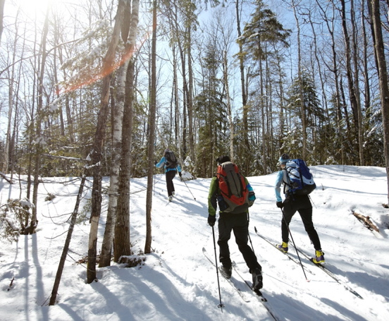 With four huts on the Maine Huts and Trails system, skiers are able to travel and string together a 50-mile trip to take in all the huts – which offer shared bunkrooms, home-cooked meals, showers and a lounge area.