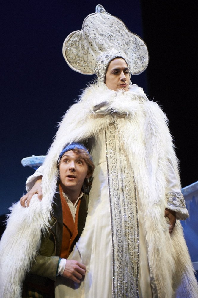 """A scene from the Portland Stage Company production of the Hans Christian Andersen fairytale """"The Snow Queen"""" continuing through Dec. 22"""