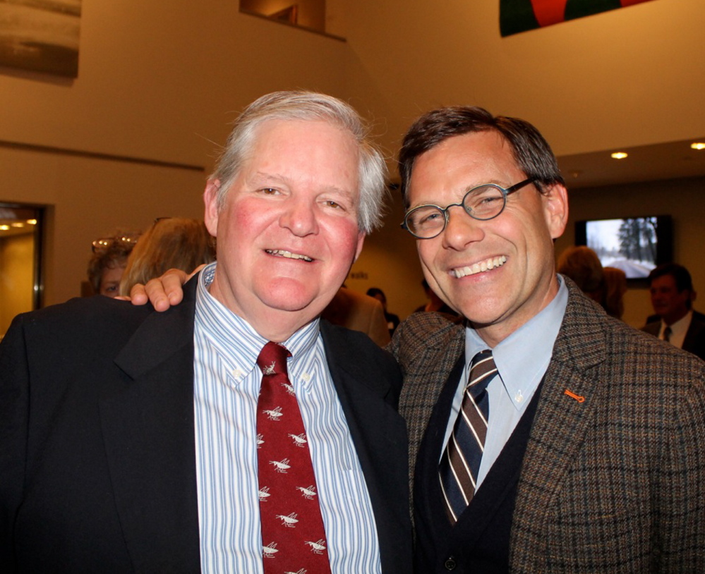 George Berger of Denver and Prouts Neck with museum director Mark Bessire at Tuesday night's event.