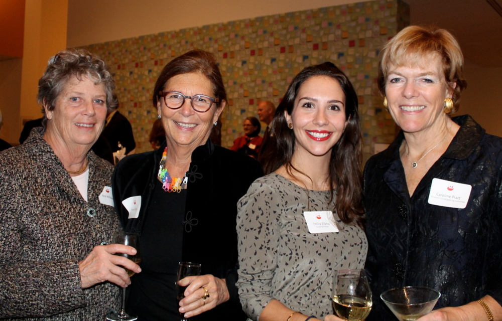Ann Willauer of Prouts Neck with Frances Zilkha of Portland, Zmira Zilkha, curatorial fellow for the Portland Museum of Art, and Caroline Pratt, member of the Director's Circle Steering Committee.