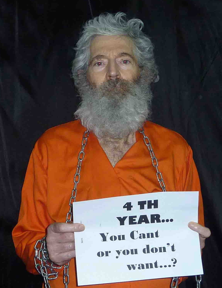 A photo released in April 2011 shows retired FBI agent Robert Levinson, who disappeared in 2007 while working in Iran.