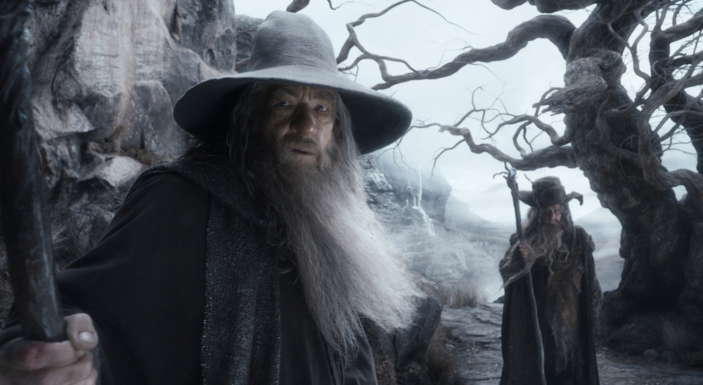 """Ian McKellen plays Gandalf in """"The Hobbit: The Desolation of Smaug,"""" which debuted in first place over the weekend."""