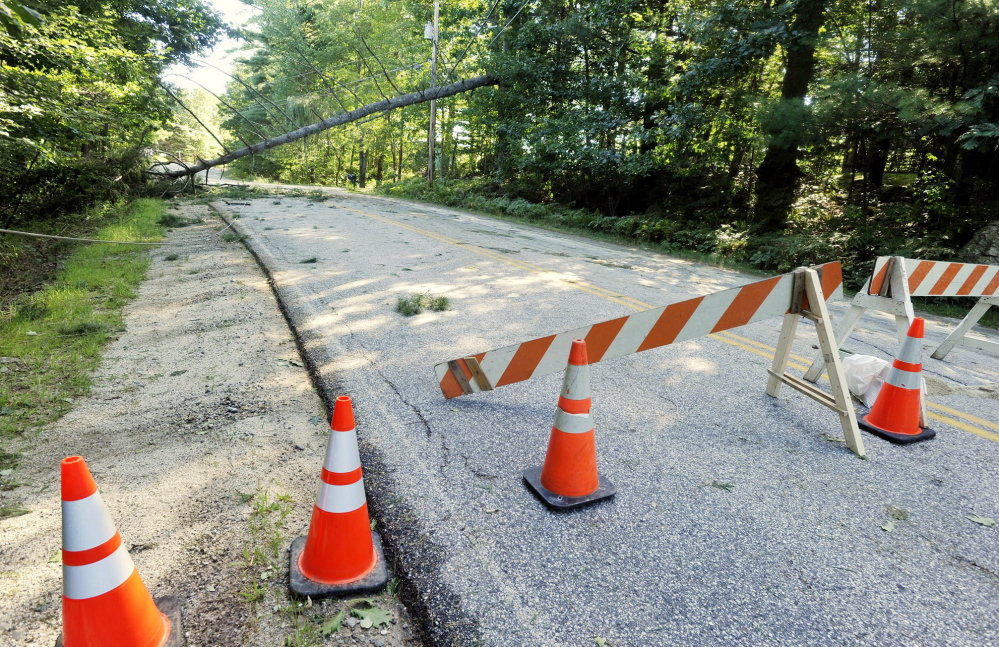 Egypt Road in Gray suffered storm damage when Tropical Storm Irene moved through Maine in late August 2011. In Vermont, the damage from flooding was much more severe.