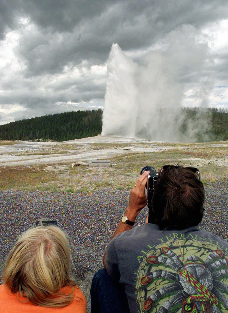 Yellowstone National Park's Old Faithful geyser is one of the park's many features powered by a massive chamber of magma located under the iconic area.