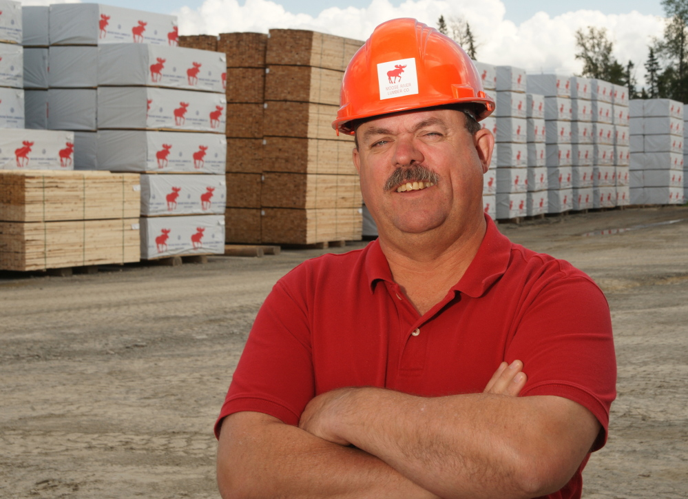 Steve Banahan, a manager for Moose River Lumber near Jackman, is closely watching efforts to sell Montreal, Maine & Atlantic Railway.
