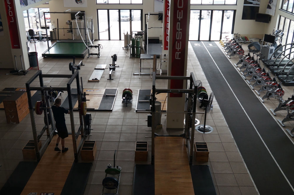 The U.S. Ski and Snowboard Association's Center of Excellence in Park City, Utah, includes a treadmill, left, designed to measure and maximize the efficiency with which athletes use oxygen.