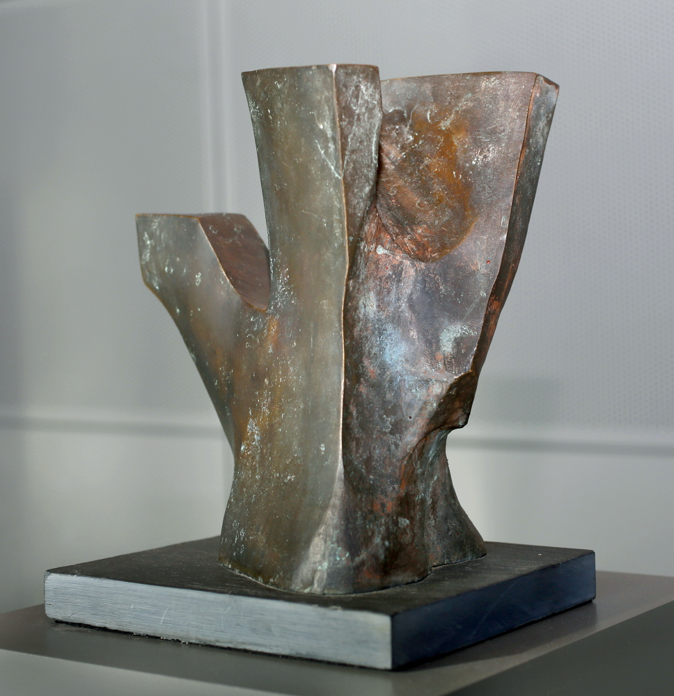 """""""Shorebird"""", created from bronze and slate, by artist Edwin Gamble."""