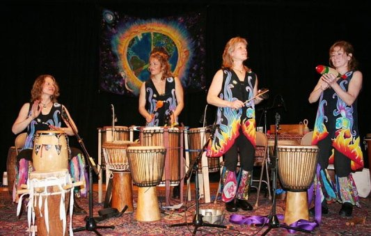 The drumming group Inanna, Sisters in Rhythm will be at One Longfellow Square in Portland on Sunday.