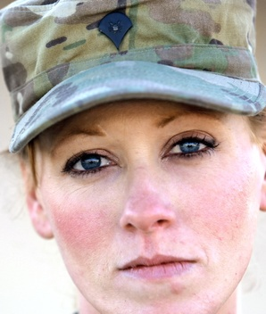 Spc. Cherish Debault of Winslow, photographed Friday, December 20, 2013, at Bagram Airfield in Afghanistan for soldier profile. (Gabe Souza/Staff Photographer)