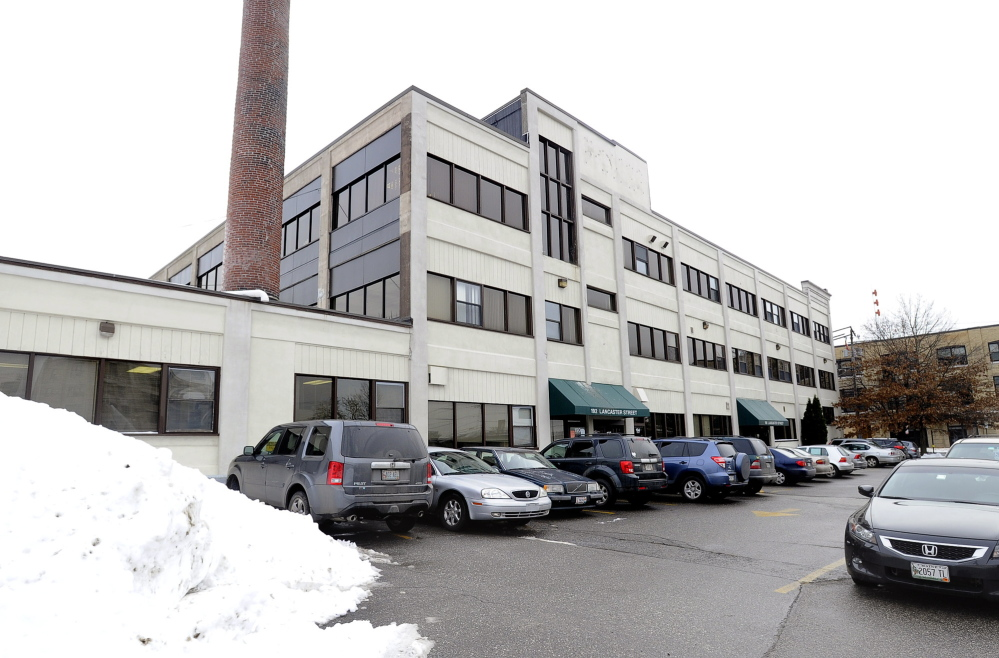 One of two Portland buildings on Lancaster Street owned by developer Tom Toye of Cape Elizabeth that he is offering to lease to the state Deparatment of Health and Human Services.