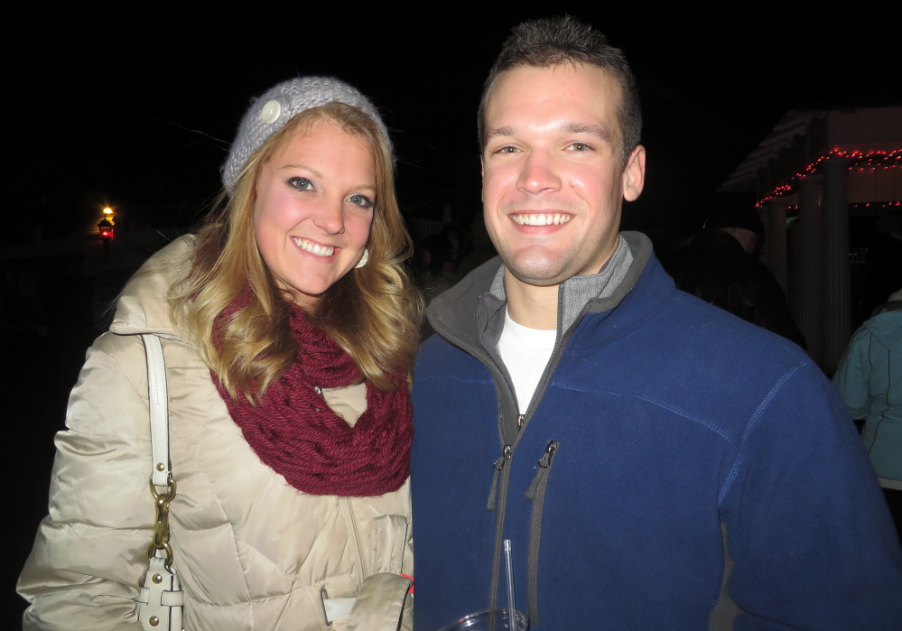 Hannah Taylor and Nick Smith of Portland relish the outdoor fire pits and marshmallow roasting at Fire & Ice.